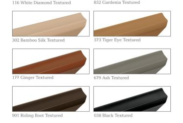 Simplelift™ Bottom Rail Color Options
