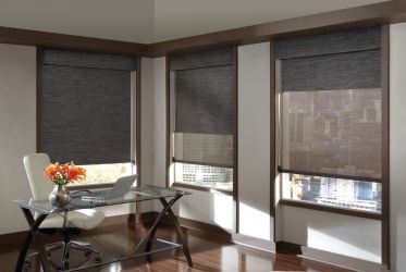 Designer Screen Shades Dualroller Complementary Valance
